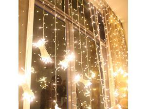 224led  9.8ft*6.6ft Christmas Festival Curtain String Fairy Wedding Led Lights for Garden,Wedding, Party, Window, Home Decorative - (Warm White)