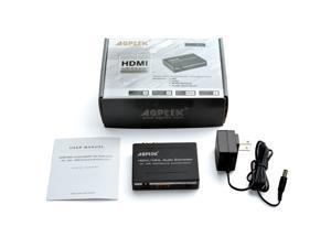 Agptek HDMI /MHL Audio (SPDIF+R/L) Extractor Support Ultra HD4K x 2K /ARC / TOSLINK Optical Audio Output + RCA L/R Audio Converter(Audio output:L/R+SPDIF)