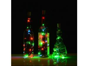 Cork shape lights, Glass Wine Bottle Mini String Lighting Copper Wire light Starry Lamp For Christmas Wedding and Party Halloween, Decorations warm white color /white color/RGB multi-color 75cm/30inch
