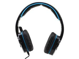 SADES SA-708 Stereo Gaming Headphone Gaming Headset Pro USB Gaming Headphone with Microphone (Blue)