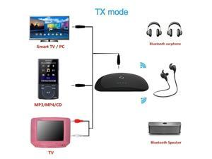 AGPTEK®  2-In-1 Bluetooth Transmitter and Receiver Wireless Stereo Audio Adapter With 3.5mm Stereo Output for Speakers, Headphone, TV, PC, iPod, MP3 / MP4, Car or Home Stereo, Support 2 Devices