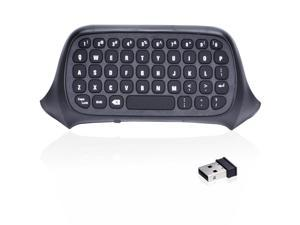 2.4G Mini Wireless Chatpad Message Keyboard for Xbox One Controller  Wireless transmission METIC: 10 mBlack