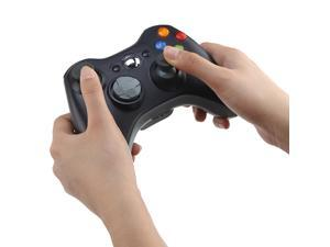 2.4GHz Wireless Remote Controller for Microsoft Xbox 360 Black w/ Integrated headset port for Xbox Live play