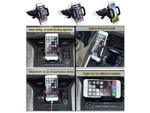 360° Rotating CD Slot Smartphone Car Mount Holder Cradle for iPhone 6 Plus iPhone5 5S Samsung Galaxy S5 Note 4 3 GPS