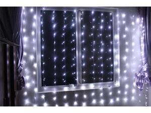 224led 9.8ft*6.6ft Christmas Festival Curtain String Fairy Wedding Holiday/String Led Lights for Garden,Wedding, Party, Window, Home Decorative - (PURE White)