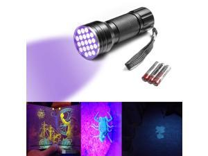 Portable Handy 395nm UV Ultraviolet Flashlight 12LED Currency Detection Money Stain Detector Flashlight Torch Lamp