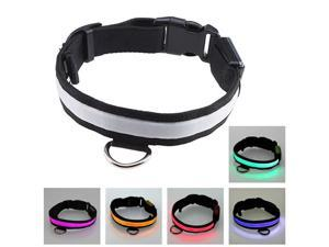 12''~16'' Small Size Rainbow Changing Color LED Flashing Light Adjustable Fashion Pets Dog Collar Belt