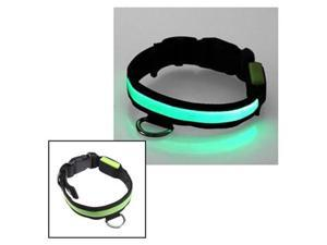 12''-16'' Small Size LED Green Flashing Light Adjustable Fashion Pets Dog Collar Belt
