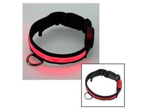12''-16'' Small Size LED Red Flashing Light Adjustable Fashion Pets Dog Collar Belt