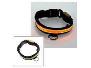 12''-16'' Small Size LED Yellow Flashing Light Adjustable Fashion Pets Dog Collar Belt