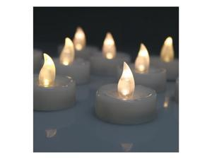 60 x Warm White Tea Light Wedding Party Flameless Smokeless Safe Led Candle