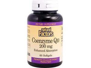 Coenzyme Q10 200mg - Natural Factors - 60 - Softgel