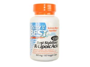 Doctor's Best Best Stabilized R-Lipoic Acid BioEnhanced Na-RALA (100 mg) 60 Capsules
