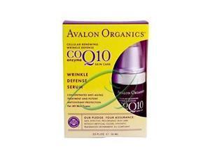 Wrinkle Therapy with CoQ10 & Rosehip FACIAL SERUM - Avalon Organics - .55 oz. - Liquid