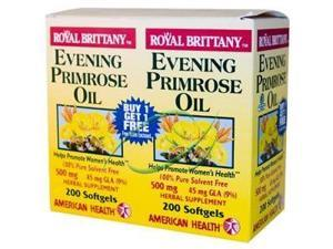 Evening Primrose Oil 500mg Royal Brittany Twin Pack - American Health Products - 200+200 - Softgel