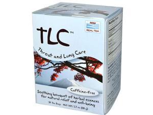 NOW? Real Tea - TLC Tea Bags (Throat and Lung Care) - Box of 24 Packets by NOW
