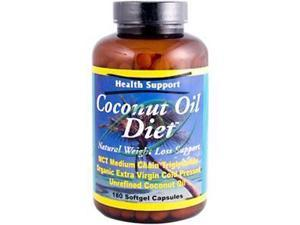 Coconut Oil Diet, 180 Softgel Capsules, From Health Support