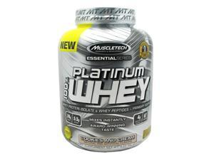 MuscleTech Platinum 100% Whey Supplement, Cookies and Cream, 5 Pound