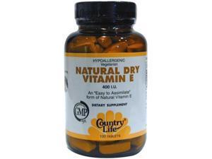 Vitamin E 400 IU Dry - Country Life - 100 - Tablet