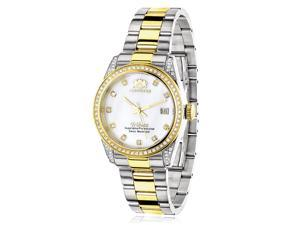 Ladies Luxurman Tribeca Two Tone Gold Plated Diamond Watch 1.5ct
