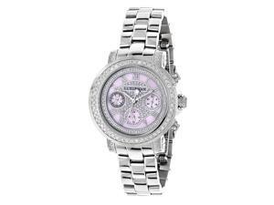Diamond Bezel Watches For Women Luxurman Montana 2ct Pink MOP