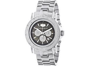 Large Face Watches for Men: Luxurman Diamond Watch Chronograph 0.25ct