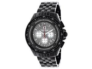 Men's Black Diamond Watch Chronograph 0.55ct Centorum