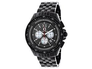 Black Diamond Watch Chronograph 0.55ct Centorum Men's Watch