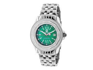 Designer Diamond Watch: Midsize Centorum Falcon 0.50ct Emerald Face