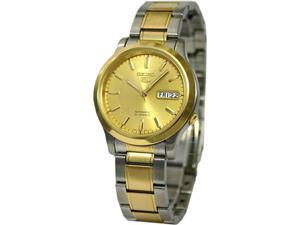 Seiko Seiko 5 Automatic Gold Dial Two-tone Mens Watch SNK792