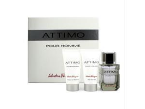 Attimo Pour Homme Coffret:Eau De Toilette Spray 60ml + Shower Gel 50ml + After Shave Balm 50ml - 3pcs