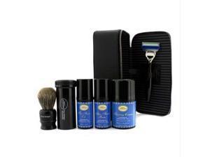Travel Kit (Lavender): Razor+ Shaving Brush+ Pre-Shave Oil 30ml+ Shaving Cream 45ml+ A/S Balm 30ml+ Case - 5pcs+1case