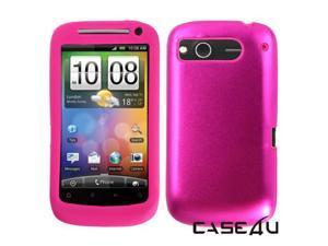 [CASE4U] HTC Desire-S Metal Case- Pink (Silicon inner)+ Screen Protector Skin