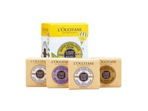 L'Occitane Travel Exclusive Soap Quartet With Shea Butter 4x3.5oz
