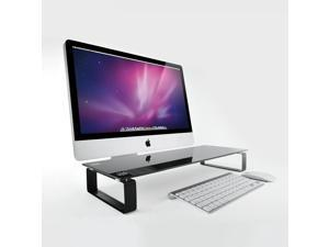 Eutuxia Monitor Stand - [Tempered Glass] Monitor Laptop Multimedia Stand with Desk Organizer