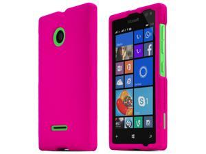 Nokia Lumia 435 Case, [HOT PINK] Slim & Protective Rubberized Matte Finish Snap-on Hard Polycarbonate Plastic Case Cover