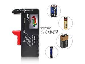 Universal Battery Tester -  For AA  AAA  C D  9V Buttons  Test Multiple Sizes of Batteries on One Unit!