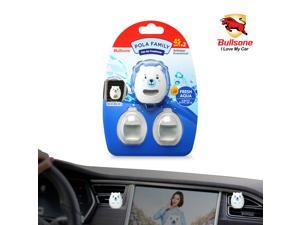 Car Air Freshener  [Aqua] Bullsone Pola Family Refillable Vent Clip BooBoo Oil