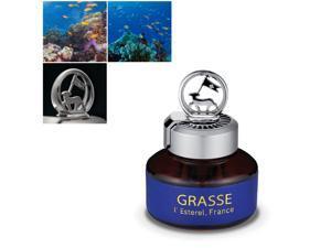 Premium Car Air Freshener, [Aqua Wave] Natural French Oil Bullsone Grasse L'esterel