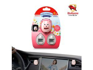 Car Air Freshener  [Floral] Bullsone Pola Family Refillable Vent Clip ShaSha