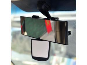 "Universal Car Accessories [Black] Wide Inside Rear View Mirror (Main Mirror: 11"", Auxiliary Mirror: 2.75"")"