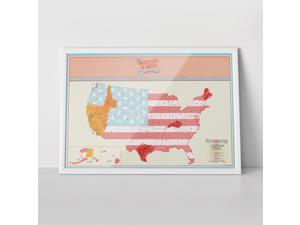 Travel Scratch USA Map - Track Places Where You've Been To! [2 Pack]