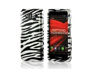 Slim & Protective Hard Case for Motorola Droid RAZR MAXX HD - Black / White Zebra