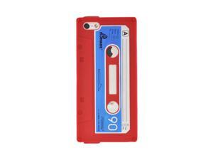 Apple Iphone 5 Silicone Cassette Tape Design Case - Red