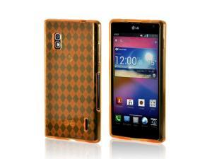 Orange Crystal Silicone Case for LG Optimus G (AT&T)