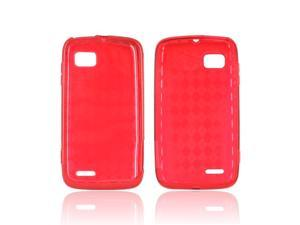 Argyle Red TPU Crystal Gel Silicone Case Cover For Motorola Atrix 2