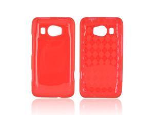 HTC Titan 2 Crystal Silicone Case - Argyle Red