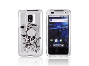 LG G2X Case, [Black Skull] Slim & Protective Crystal Glossy Snap-on Hard Polycarbonate Plastic Case Cover