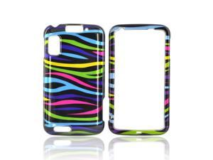 Slim & Protective Hard Case for Motorola Atrix 4G - Rainbow Zebra