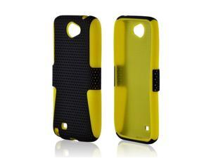 Samsung Galaxy Note II I317 Protective Case - Hybrid Mesh Black/Yellow